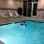  life guard in pool area but water very cold