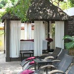 massage gazebo by pool