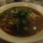 beef noodles-not worth to try ,only 5 small slice of beef and the soup tasteless of beef soup