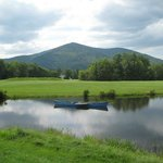  Pond on 3rd and 12th hole, overlooking Vermont&#39;s Mount Monadnock