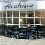 little lad's name is Archie, but he doesn't own the restaurant!