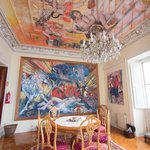 One of the public rooms, featuring the art of Antonio Otazzo