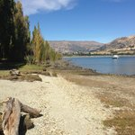 View of Lake Wanaka from the lake front path