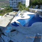 View of lower pool from condo lanai....