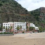 Hotel from its beach