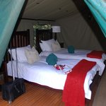  Inside tented camp