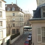 view from the room 22 to the Notre Dame daytime