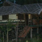  Bamboo cottage in the evening