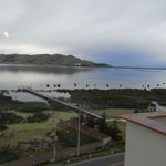  View of Lake Titicaca from our room