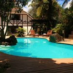 Outdoor Swimming Pool @ Hamurana Lodge Boutique Hotel