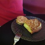  English muffin breakfast sandwich and pineapple cake