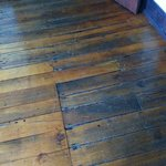 The fabulous old wood floor in our suite