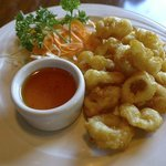 Deep fried calamari.