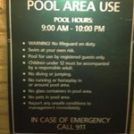 notice pool hours or you will be bitched at even though you are just sitting at a table and chai