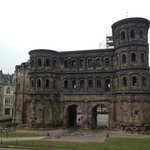 View at the Porta Nigra from the breakfast restaurant.