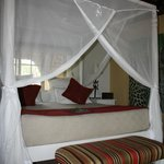 Four-poster bed - so comfortable and safari like