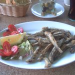 fried whitebait at san francisco cafe bar on can picafort beach