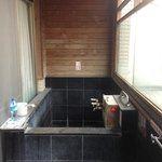  private hotspring tub inside the room