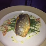 Sea bass on risotto
