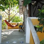  Our patio complete with chairs, table and the amazing hammock!!!!