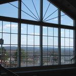 Large picture window with Cumberland Mountain view.