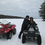 ATV on the lake  with Cesar