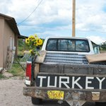  Note sunflowers on truck, Truchas, NM