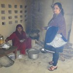 village food made by local women at Pratap Garh Farms