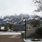 Snow capped peaks from Hotel - end of Autumn