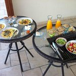 Delicious breakfast on the patio!