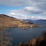 View of Loch Carron from Woodland walk just behind Stationmaster's hostel