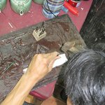  The handicrafts being made