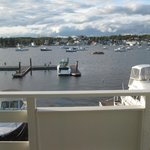 Fantastic view from our balcony, Brown's Wharf Inn, Boothbay Harbor, ME