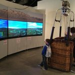  flying &amp; landing balloon exhibit