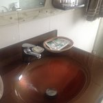Gorgeous Bathroom, huge shower with very hot water, hair dryer,