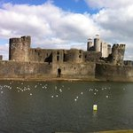 amazing Caerphilly castle