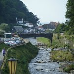 Stunning view of Lynmouth by the hotel