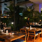 Dining Area (Outdoor) with BBQ buffet at night