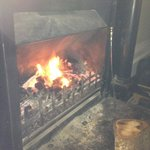 Lovely fire shame about the temps!