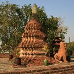 12th century stupa in the hotel grounds