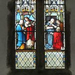  The Saints in the stained glass.