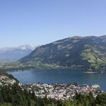 Looking down on Zell am See.