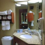  Great lighting and storage in bathroom