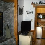  Nice kitchenette area with dishes included.