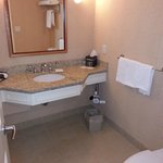 ample room, the bathtub was on the left of this photo
