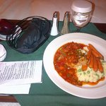  Room Service - Chicken with homemade salsa, risotto and baby carrots!