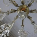 chandelier in the bedroom