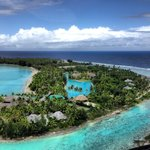 Arriving at the St. Regis Bora Bora - View from above