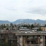 View of downtown Vancouver from the rooftop area.