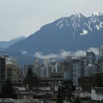  View of downtown Vancouver from the rooftop area (zoomed shot)